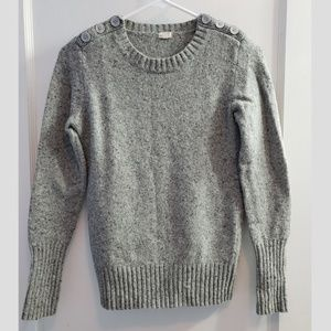 J Crew Long Sleeve Crew Neck Pullover Sweater Grey